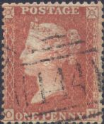 1856 1d Red SG29 Plate 25 'OH'